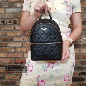 kate Spade MINI Natalia Backpack BLACK Leather NWT